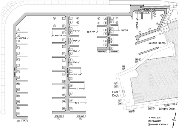 Marina dock design layouts.