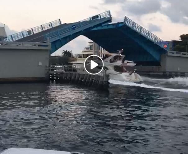 Boat speeding on no wake zone Fort Lauderdale