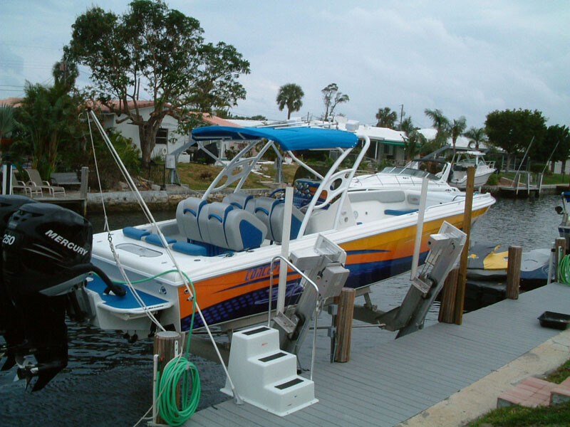 A Low profile Aluminum Elevator Boat Lift