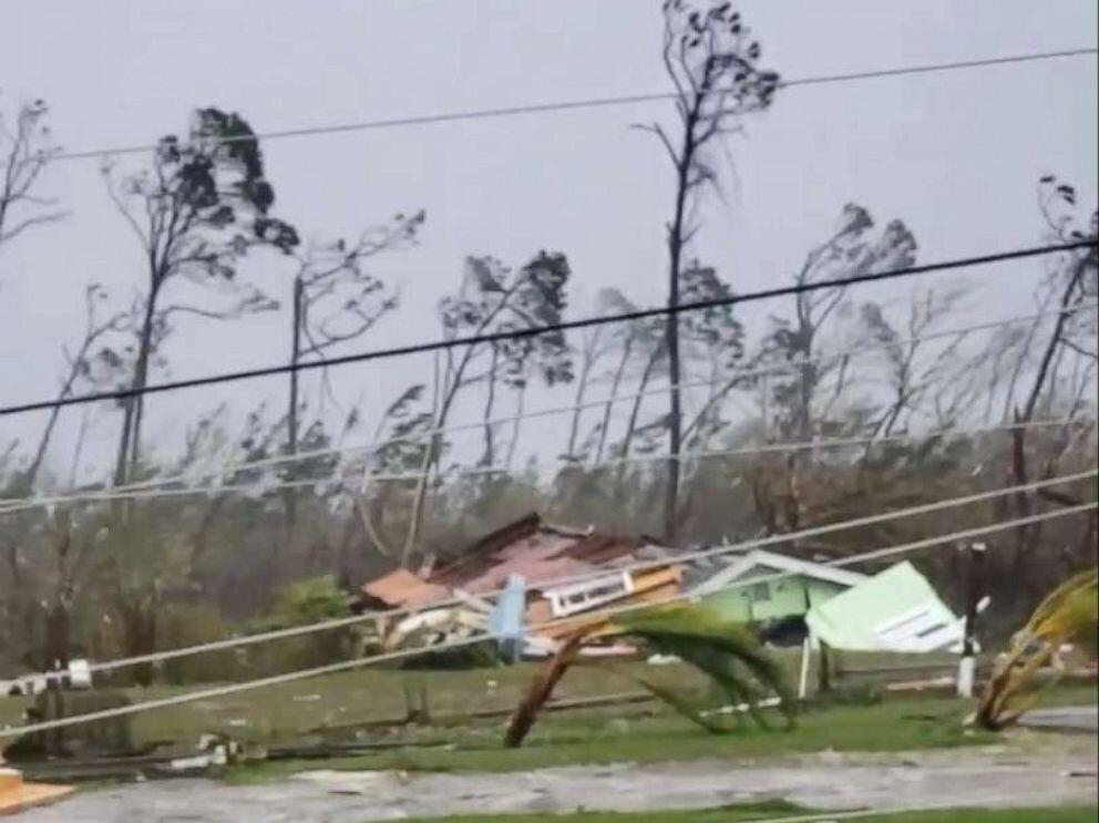 Homes destroyed by the wind after Hurricane Dorian in the Bahamas