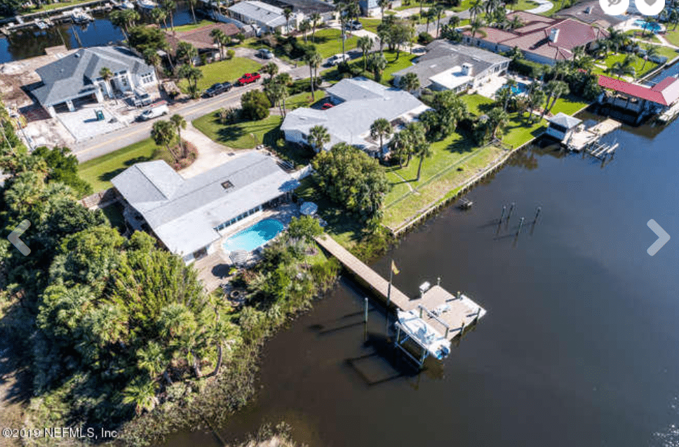 Jacksonville waterfront home with dock.