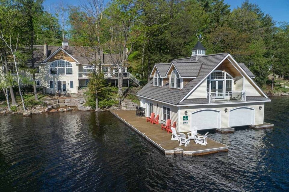 House on the water in Muskoka.