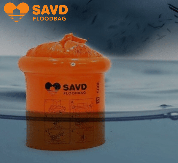 Savd floodbags, durable plastic encasign for your documents and pictures.