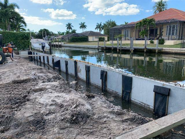 Seawall project rebuild in Naples by Greg Orick.