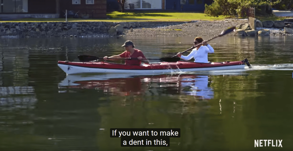 Bill Gates and his wife take full advantage of the Washington state waterfront areas on his Netflix documentary.