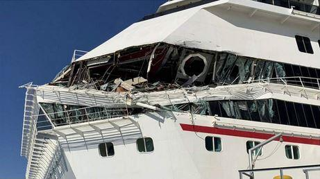 Damaged Carnival cruise ship.