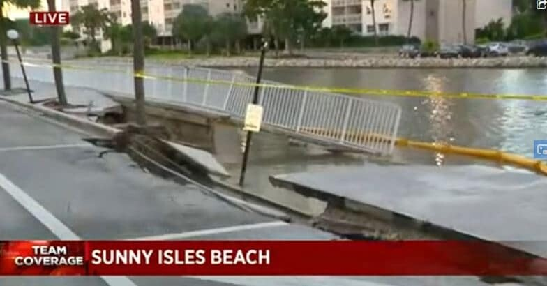 Seawall collapsed in Sunny Isles Beach on Monday, Christmas week.