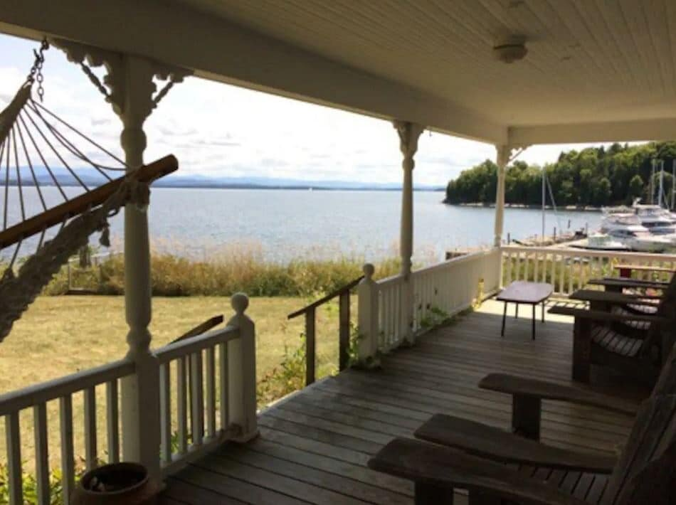 Historic Lakefront Home In Lake Champlain on AirBNB.