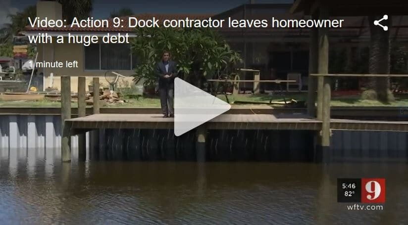 Homeowner in debt, dock repair.