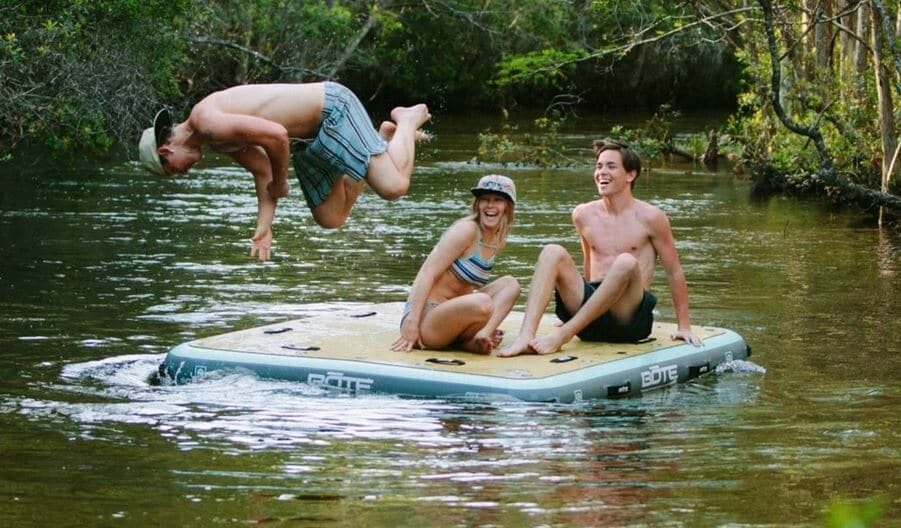 The Bote inflatable Dock for groups