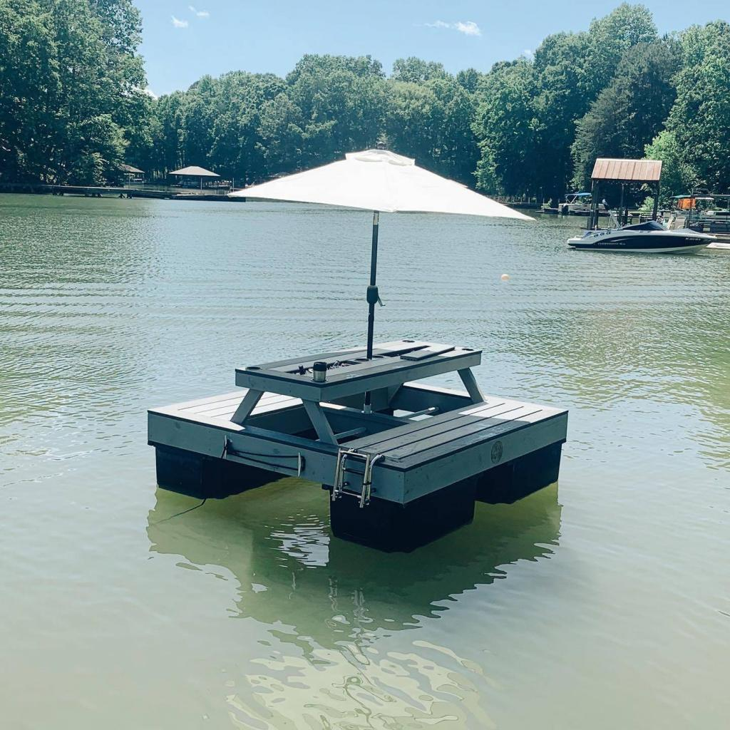 Amazing floating tables and seats made with TRex. Amazing floating tables and seats made with TRex.