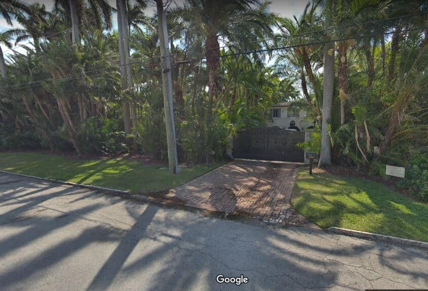 Phil Collins former home on 5500 North Bay Road in Miami BEach.