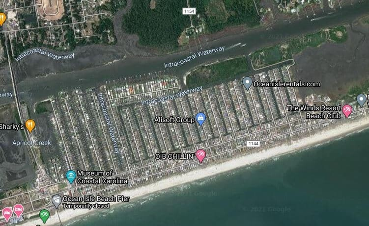 Ocean Isle in NC also offer tons of dockage space.