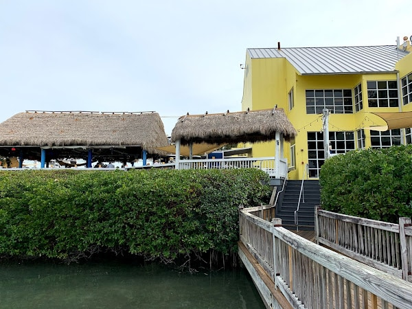 The walk from the docks to Whiskey Joe's at Rickenbacker Marina in Hobie Island on the way to Key Biscayne.