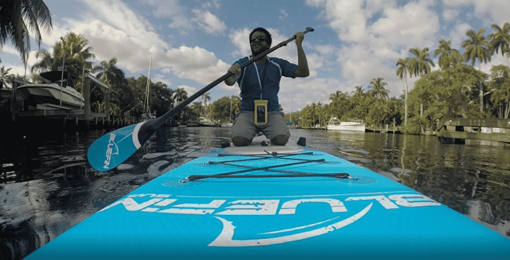Me on an inflatable Paddleboards cruising.