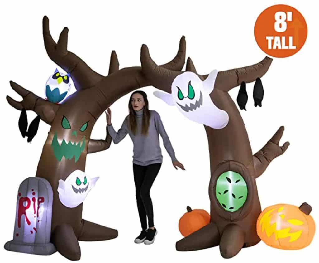 Halloween Scary Tree Archway.