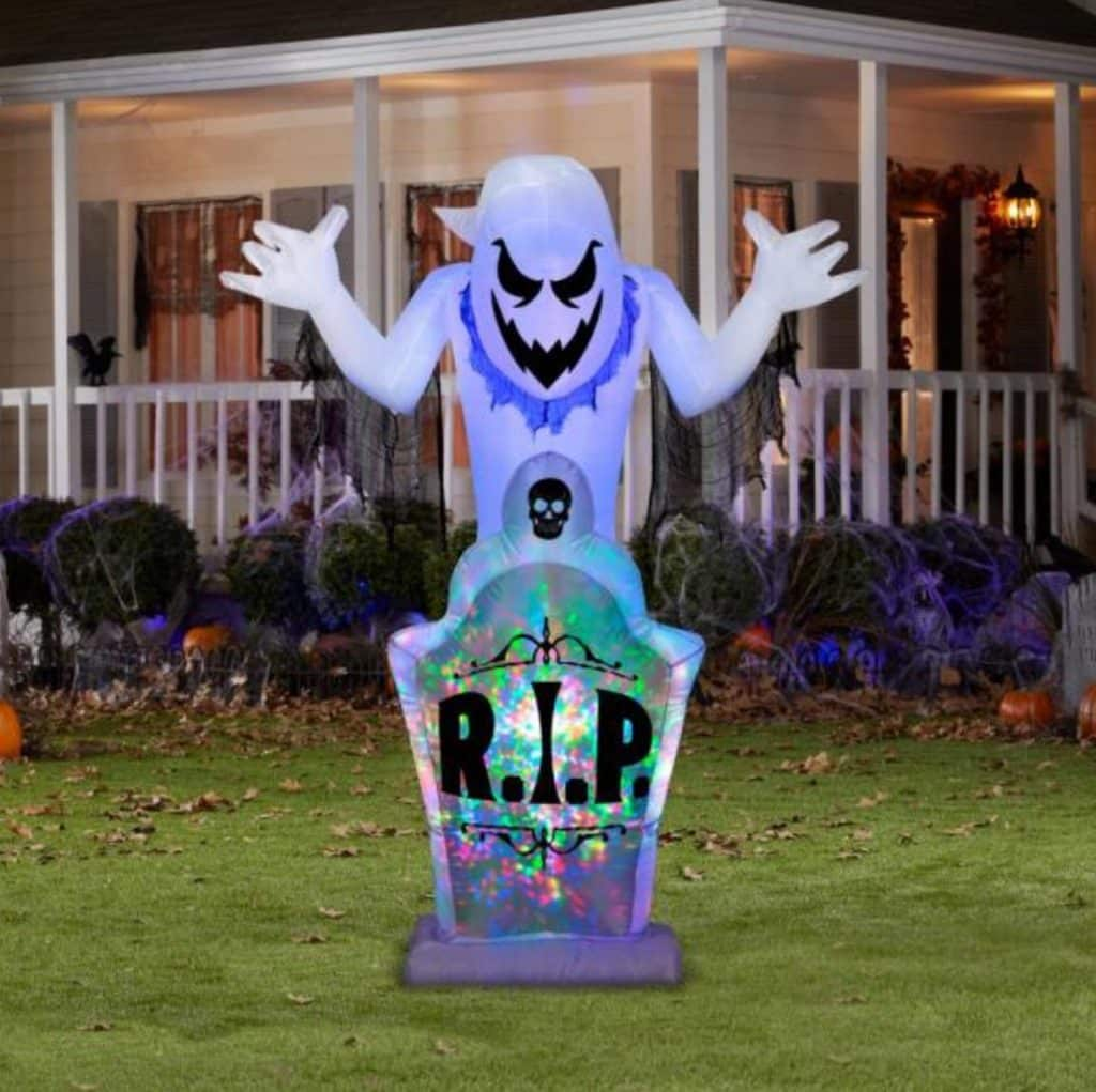 Tall Halloween Inflatable Ghost available on Home Depot