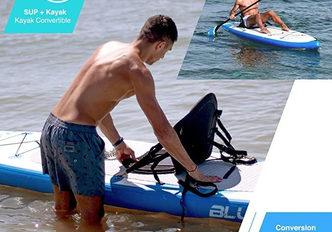 Bluefin Inflatable SUP with seat.