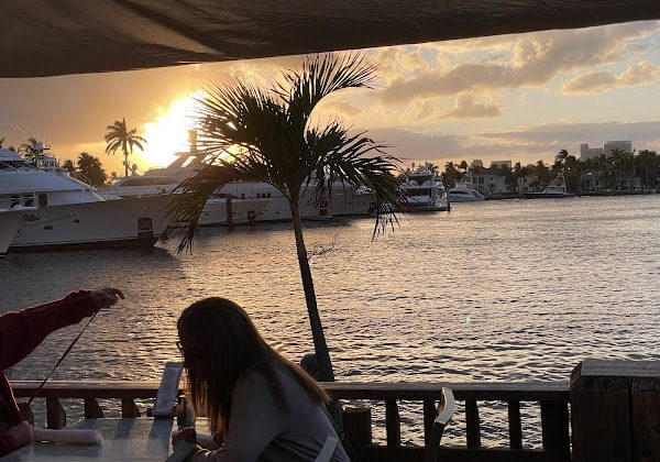 The sunset dockside at Coconuts.